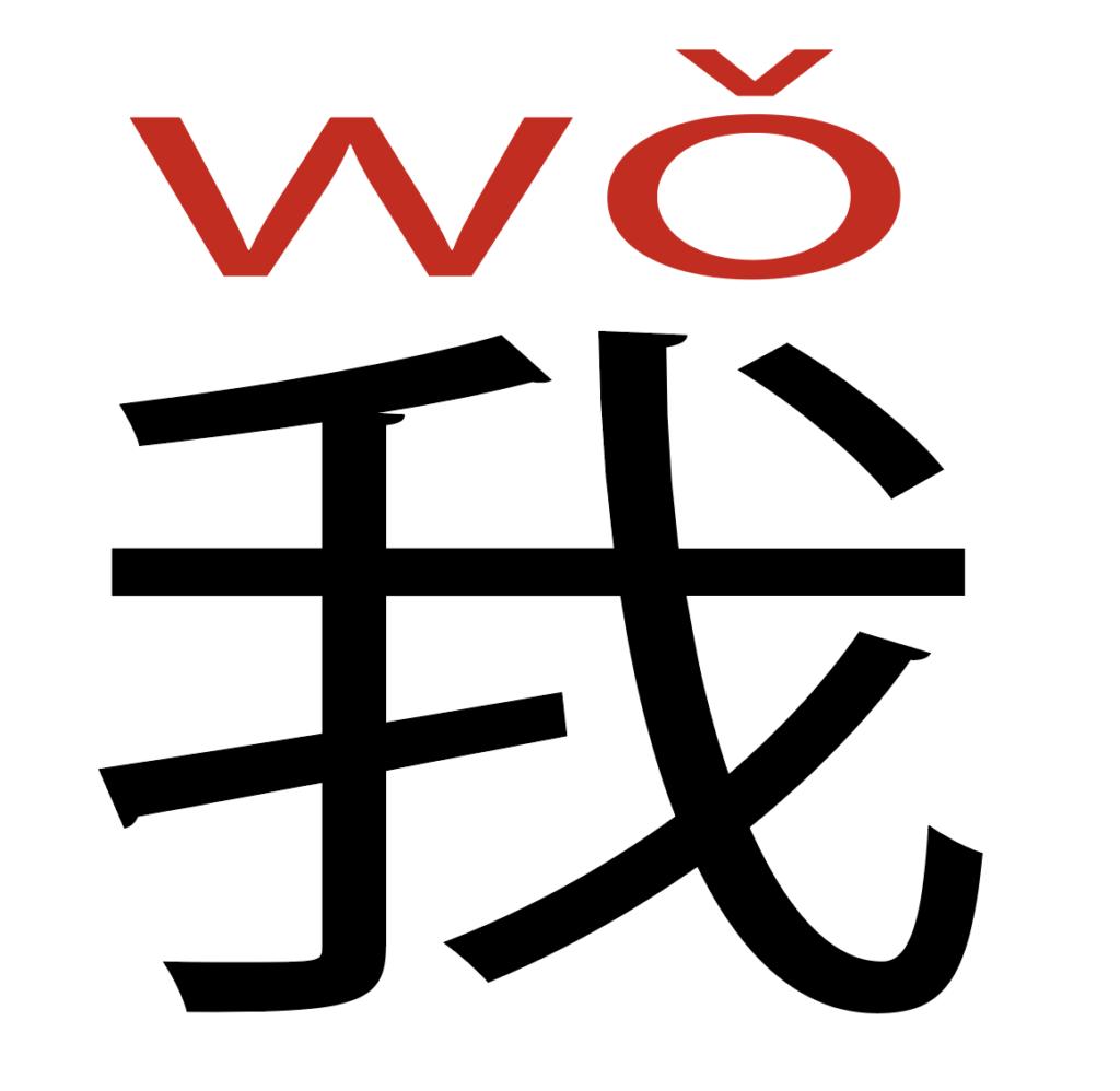 中国語で我と書いてある図