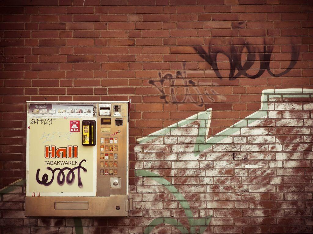 ティッシュの自動販売機