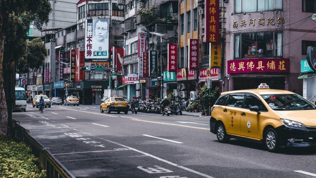 台湾のタクシーの写真